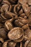 chokladhavreflakes arkivbild