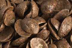 chokladhavreflakes royaltyfria foton
