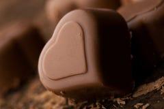 chokladhjärta royaltyfri fotografi