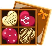 chokladhjärta royaltyfri illustrationer