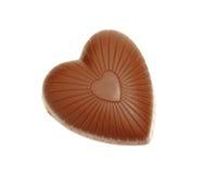 chokladhjärta Fotografering för Bildbyråer