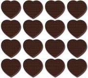 Chokladhjärtamodell vektor illustrationer