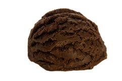 Chokladisboll på vit bakgrund Arkivfoto
