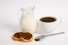 chokladkaffe mjölkar pasterulle Royaltyfri Foto