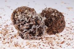 Chokladkaffekaka Fotografering för Bildbyråer