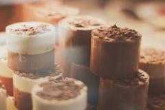 Chokladkaffemousse arkivbild