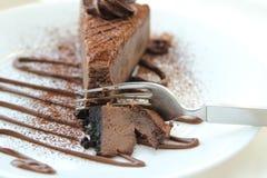 Chokladkaka Arkivfoto