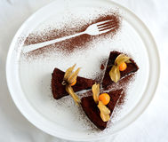 Chokladkaka Royaltyfri Fotografi
