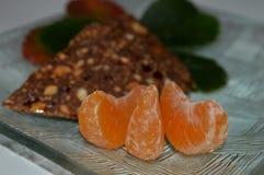 chokladkaka i form av trianglar Arkivbild