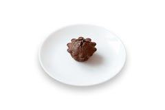 Chokladkaka med fondantfyllning Royaltyfri Foto
