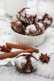 Chokladkaka med sprickor Fotografering för Bildbyråer