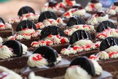 Chokladkaka och kaka Royaltyfria Bilder