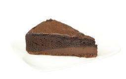 Chokladkaka på en maträtt Royaltyfria Foton