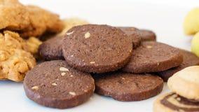 chokladkakor tre Royaltyfri Fotografi