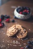 chokladkakor tre Fotografering för Bildbyråer