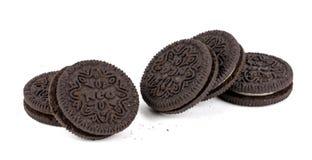 chokladkakor tre royaltyfria bilder
