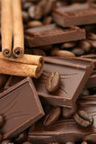 chokladkanelkaffe royaltyfria foton