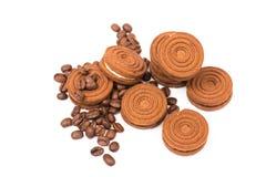 Chokladkex Arkivbild