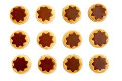 Chokladkexar royaltyfria foton