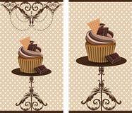Chokladkoppkaka royaltyfri illustrationer