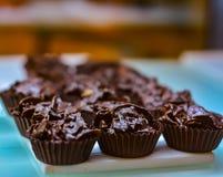 Chokladkoppkakor Royaltyfri Fotografi