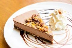 Chokladkortslutningskaka royaltyfri foto