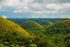 Chokladkullar, Bohol ö, Philippines Arkivfoto