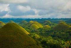 Chokladkullar, Bohol ö, Philippines Arkivfoton