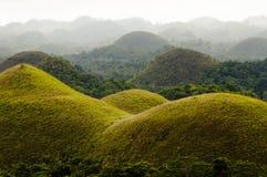 Chokladkullar - Bohol - Filippinerna Arkivbild