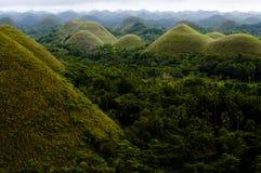 Chokladkullar - Bohol - Filippinerna Arkivfoton