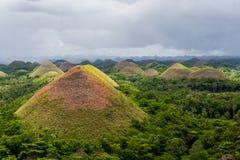 Chokladkullar i Filippinerna Arkivbilder