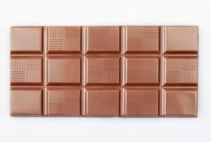 Chokladkvarter på vit royaltyfri foto