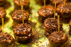 Chokladmaräng Arkivfoto
