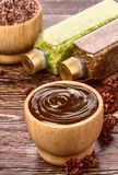 Chokladmaskering Arkivbilder