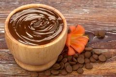 Chokladmaskering Arkivfoto