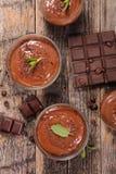 Chokladmousse Arkivfoton