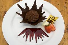 chokladmousse Royaltyfri Foto