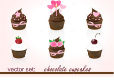 chokladmuffin Royaltyfria Foton
