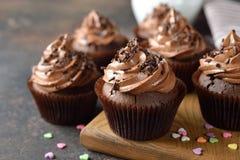 Chokladmuffin royaltyfria bilder