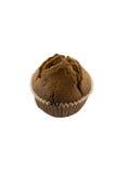 Chokladmuffin på den vita bakgrunden Fotografering för Bildbyråer