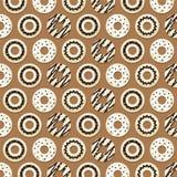 Chokladmunkbakgrund royaltyfri illustrationer