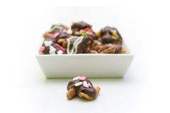 chokladmuttrar Arkivfoton