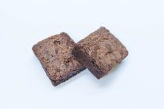 Chokladnissekaka i bakgrund Fotografering för Bildbyråer