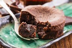 Chokladostkaka Royaltyfri Bild