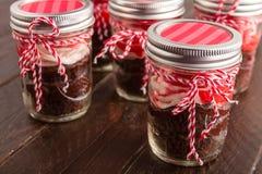 Chokladpepparmintmuffin i en krus Fotografering för Bildbyråer