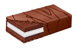 Chokladpralinkrus vid OBS royaltyfri illustrationer