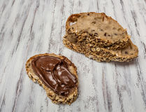 Chokladpralinsmörgås Royaltyfri Fotografi