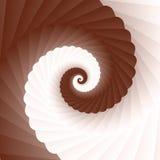 Chokladpralinvirvel-, brunt- och vitspiral Arkivbild