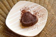 Chokladpudding Fotografering för Bildbyråer