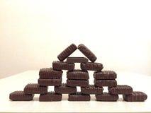 Chokladpyramid Arkivbild
